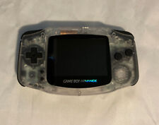 Nintendo Game Boy Advance GBA Clear System Backlit IPS LCD Custom MOD CLE-865