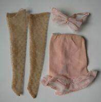 Vintage Under Fashions #1655 Mattel 1966 Barbie Clothes Lingerie Slip Bra Nylons
