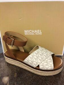 Michael Kors Abbott Sandal Vanilla Logo Espadrille Women's sizes 5-11/NEW!!!