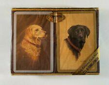 Vtg Congress Playing Cards Two Decks Cel-U-Tone Bridge Labrador Dogs New Sealed