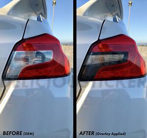 EURO Spec SMOKE Tail light Rear Tint Overlays Vinyl Precut For 15-2021 WRX STI