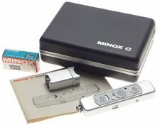 MINOX C chrome spy camera manual flash chain sealed 16mm film meter excellent