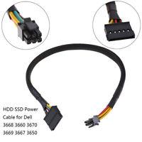 HDD SSD Stromkabel 6 Pin zu SATA 15Pin Konverter * Kabel für Dell 3668 3667 T M`