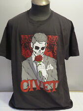 Civet Shirt - All Girl Punk Band (Hellcat Records) - Rose Skeleton - Men's Xl