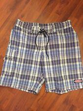 Men's Size 33 Vineyard Vines Board Shorts Blue White Plaid Excellent