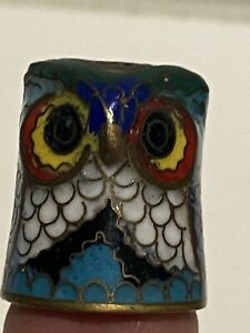 VINTAGE WISE OLD OWL CLOSSONE THIMBLE