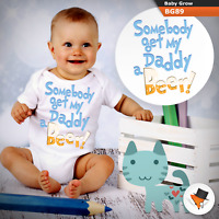 0-3 Months Baby Grows Daddy Beer Funny Christmas Baby Shower Gifts Boys Girls