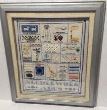 Signed Sampler Stitch Types Skill Cross Stitch 1990 PA NEEDLE WORK