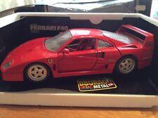 Burago 1987 Ferrari F40 1:18 scale die cast model in red - boxed
