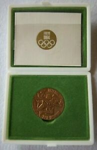 Orig.commemorative medal   Olympic Games TOKYO 1964 - with Certificat + Box  !!!