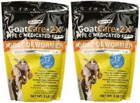 Durvet Goat Care 2X Medicated Pellets, Goat Dewormer, 3 Pounds Per Package (2...