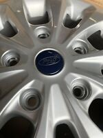 "GENUINE FORD TRANSIT CUSTOM 16"" ALLOY WHEEL 10 SPOKE SPARKLE SILVER 221673"