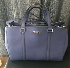 Kate Spade New York Large Handbag Purse Tote Saffiano Leather Royal Blue EUC