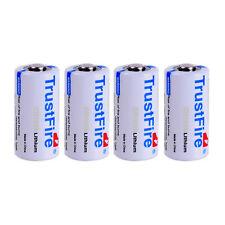 4pcs Trustfire CR123A 16340 Lithium Li-ion Batteries 3V Battery 1400mAh Cell Bat