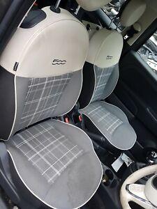 2018 FIAT 500 COMPLETE HALF LEATHER INTERIOR SEATS & DOOR CARDS