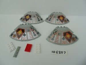 LEGO 6900: Cyber Saucer Parts 10 x 10 x 2 1/3 Quarter Saucer Top with UFO Print