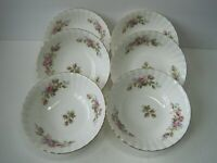 Vintage  1956 Royal Albert Moss Rose Dessert Fruit Rimmed Bowl