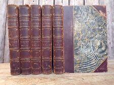 Plutarch's Lives ~ Dryden Translation ~ Little, Brown ~ 5 Volumes ~ 1882