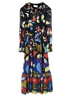 Peter Pilotto Printed Georgette Long Dress