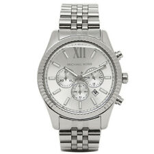 MICHAEL KORS LEXINGTON CHRONOGRAPH MENS WATCH MK8405 SILVER DIAL RRP £279.00