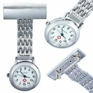 Nurse Watch Brooch Tunic Fob Watches Pocket Pendant Quartz Stainless Steel Gift