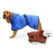 Pet Dog Cat Hooded Microfibre Towel Coat Super Absorbent Bath XS S M L XL *CUTE*