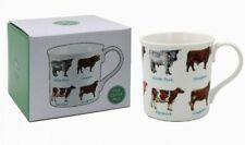 Gift Boxed Fine China Full Colour Mug - COWS - Hereford - Longhorn