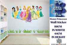 Princesas De Disney Pared Adhesivo Calcomanía De Pared Dormitorio de Niños Grande.
