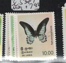 Sri Lanka Butterfly SC 534-7 MOG (4egd)