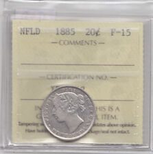 1885 NEWFOUNDLAND 20 CENT COIN ICCS F-15