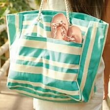 New Sold-out DSW Summertime Tote Striped Canvas Extra Large Carry-all Beach Bag