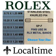 BNIP Pack Of 5 Double Ended Steel Knurled Link Pins For Rolex Watch Bracelets