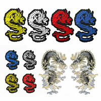 Dragon Embroidered Sew On Patch Badge Fabric Clothes Craft Sticker Transfer Gift