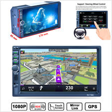 "7"" 2DIN Car GPS Navigation Free Map Bluetooth Stereo FM Radio MP5 Player Android"