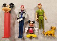 Disney Figure Bundle Mickey Mouse Hans Peter Pan Simba PEZ