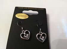 DISNEY Authentic Mickey Mouse Icon Heart Dangle Earrings by Arriba Brothers