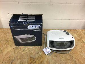 DeLonghi Tavolo HTF3033 3KW Flat Fan Heater - White