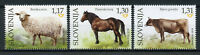 Slovenia 2018 MNH Domestic Farm Animals Sheep Cows Horses 3v Set Stamps