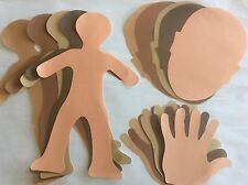 MULTICULTURAL PAPER SHAPES KIDS CRAFT KIT People, Faces, Hands