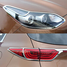 FOR 2016 -17 KIA SPORTAGE CHROME HEAD FRONT FOG TAIL LIGHT LAMP TRUCK COVER TRIM
