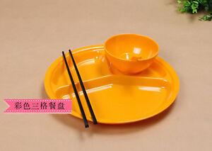Student canteen cutlery sets (plates + bowls + spoon + chopsticks) TR