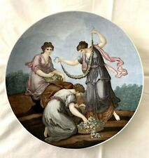 BAREUTHER BAVARIA GERMANY PORCELAIN  WALL PLATE SPRING BY FRANCESCO BARTOLOZZI