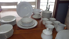 Fine China Dinnerware Set by Lynns Imperial Gold White rimmed in gold service 8