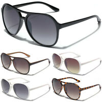 Retro 80's Fashion Aviator Sunglasses Vintage Men's Women's Glasses Black White