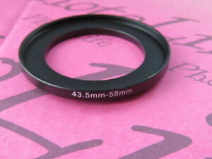 43.5mm to 58mm Stepping Step Up Filter Ring Adapter 43.5mm-58mm