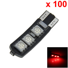 100x Red Car T10 W5W Generation Bulb Interior Light Canbus Error Free 6 5050 SMD