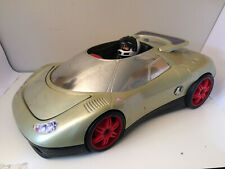 Action Man Car 1998 Hasbro Silver Speeder with Driver and Missiles