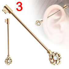 1x Industrial Bar Scaffold Ear Barbell Ring Various Styles Jewelry AAA 6