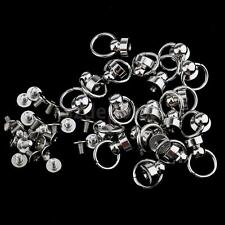 20x Pacifier Rivets Studs Spikes for Leather Belt Bag Decoration 9mm Silver