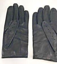 100% PIEL hombre guantes - TALLA m- Negro